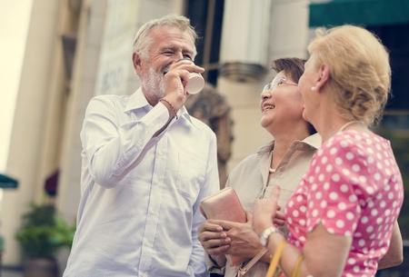 Seniors having a good time together