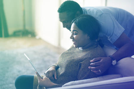 African American Couple Use Tablet Together