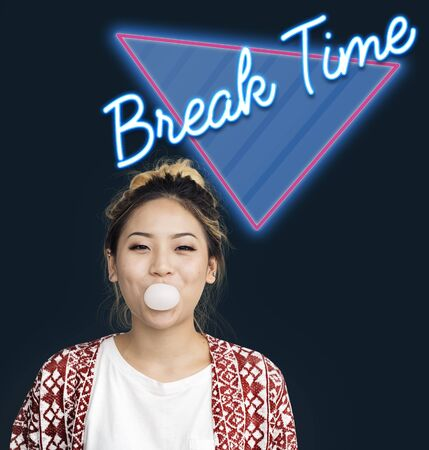 Break Time Relax Vacation Word Stock Photo