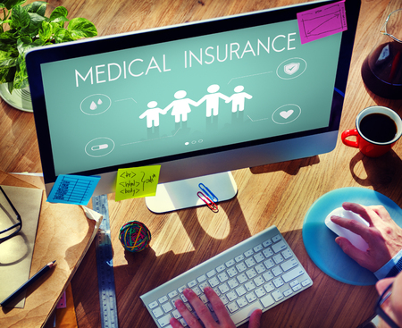 computer education: Insurance Coverage Mix Reimbursement Protection Concept Stock Photo