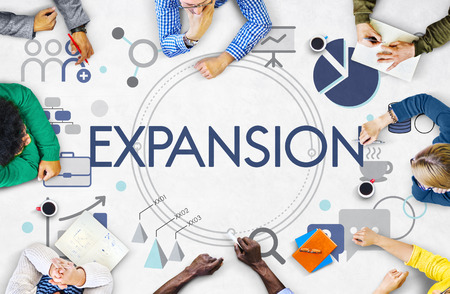 Entrepreneur Expansion Goals Target Stock Photo