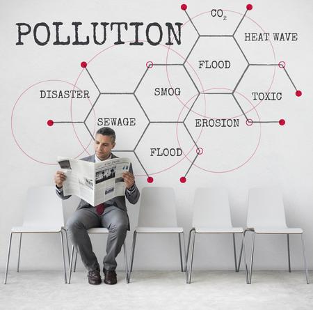 Pollution Toxic Flood Heat Wave Reklamní fotografie