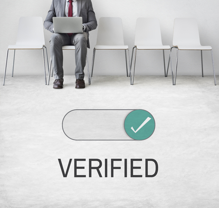 Verified Allowance Approval Permit Authority Фото со стока