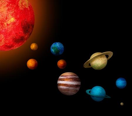 Illustration of solar system astrology exploration