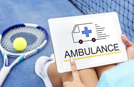 Ambulance Accidental Emergency Urgent Situation Stok Fotoğraf
