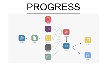 Chart with progress concept 版權商用圖片