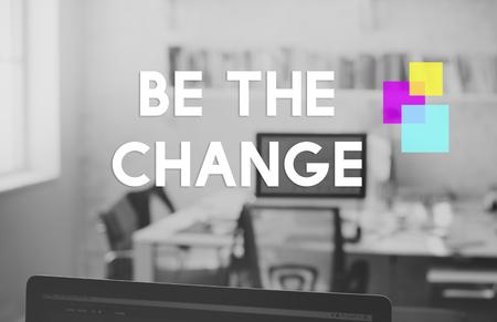 Be The Change Mindset Motivation Word Imagens