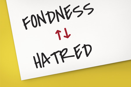 Antonyms Fondness Hatred Arrow Graphics