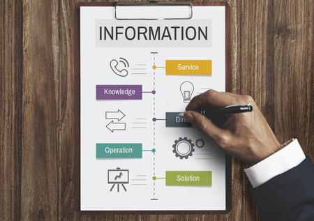 inform information: More Information Get Advice Sale Stock Photo