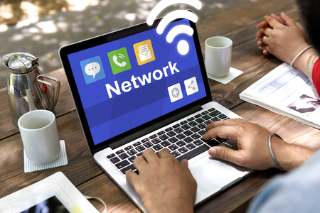 Internet Network Technology Connection Icon Stock Photo
