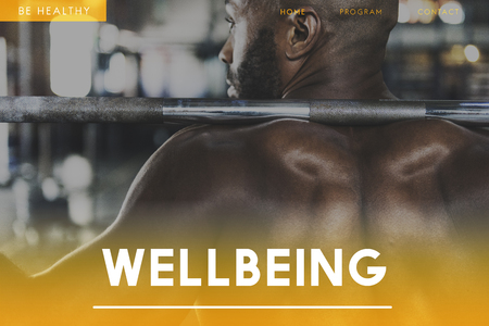 Webpage with wellbeing concept Archivio Fotografico - 112971109