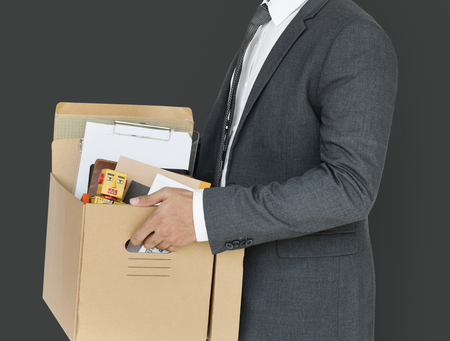 Business Man Holding Box Concept