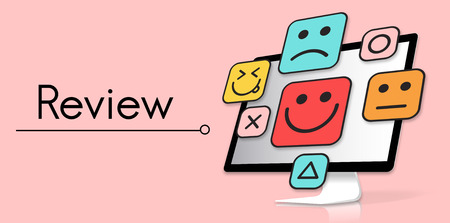 Customer evaluation feedback smiley emoticons