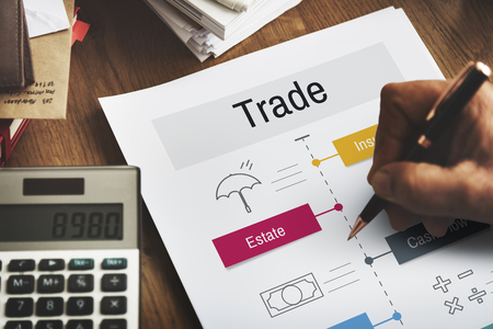 Economy Trade Financial Accounting Icons Фото со стока