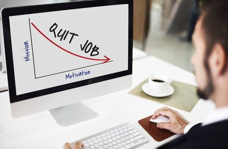 Unsuccessful Termination Employment Quit Retrenchment Stock Photo