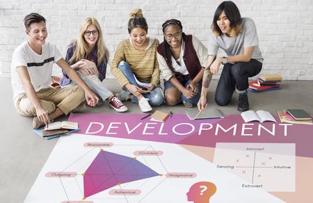 Development Personality Improvement Graphic Word Symbol Stock Photo