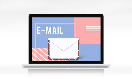 envelope: Email Communication Envelope Icon Graphic