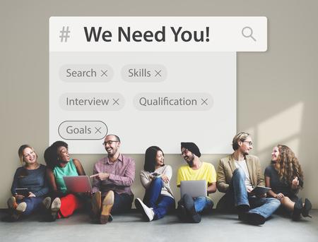 Les marques de moteurs de recherche d'emplois de recrutement Banque d'images - 76894773