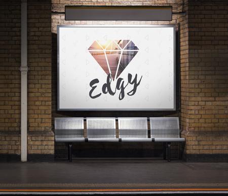 다른 독특한 원래 다이아몬드 단어