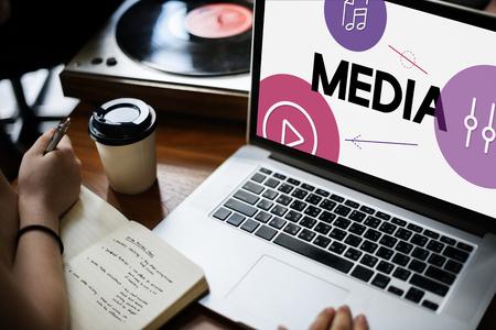 Music Streaming Media Entertainment Equalizer 版權商用圖片