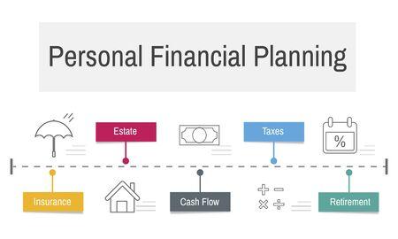 Investissement professionnelle planification financière de services Banque d'images - 76925345