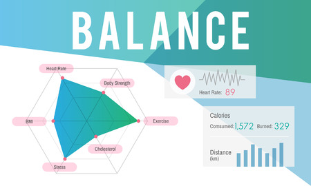 Graphic with health and balance concept