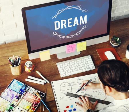 Inspiration Fresh Ideas Dream Word Stok Fotoğraf