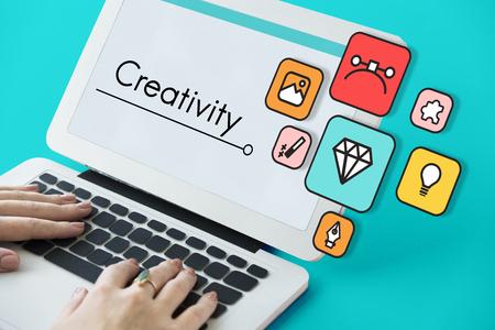 콘텐츠 구성 창의력 디지털 미디어 스톡 콘텐츠
