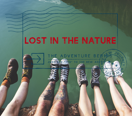 lost lake: Travel Holiday Vacation Friends Wanderlust