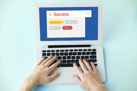 Success Achievement Improvement Expansion Search Stok Fotoğraf