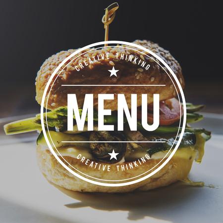 Food Words Hamburger Appetite Meal