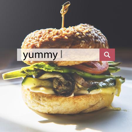 Пищевые слова Гамбургерская аппетитная еда Фото со стока