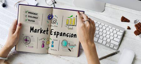 New Business Market Venture Expansion Growth Фото со стока - 76896333