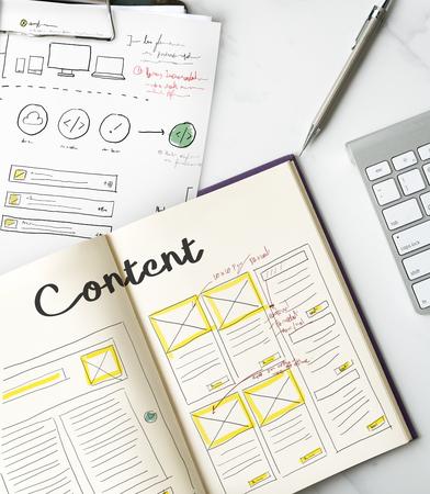 Web デザイン創造的なデザインの創造性のアイデア接続 写真素材