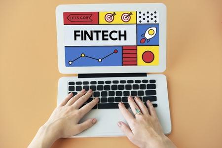 Fintech Financial Technology Money Business Word