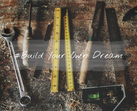 Do What You Love Build Your Own Dream Stay Positive Stock Photo