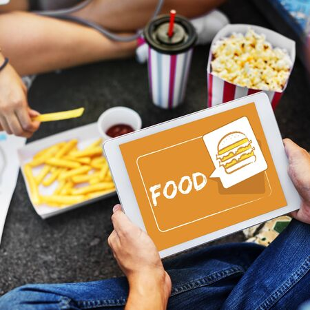 Burger Fast Food Icon Graphic Stock Photo - 76925403