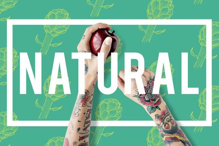 resurrect: Natural Vitality Reviving Graphic Design Word Stock Photo