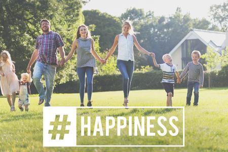 Geluk Heerlijk Glimlach Positiviteit Grafisch Woord