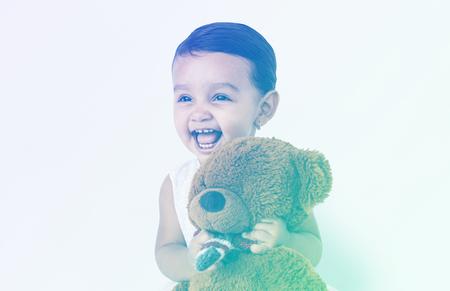 Little Girl Brown Teddy Concept