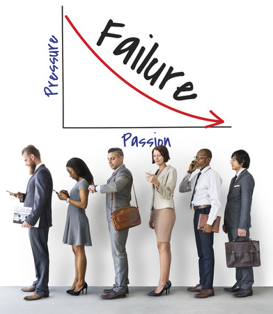 Businesspeople with failure concept Banque d'images - 113084860