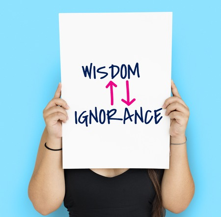 ignorance: Proficiency Antonyms Wisdom Ignorance Illustration Stock Photo