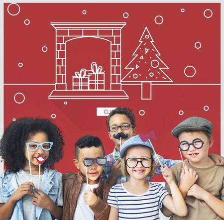 Joyeux Noël et Bonne Année Concept Illustration Banque d'images - 76989919