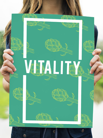 Natural Vitality Reviving Graphic Design Word Stock Photo