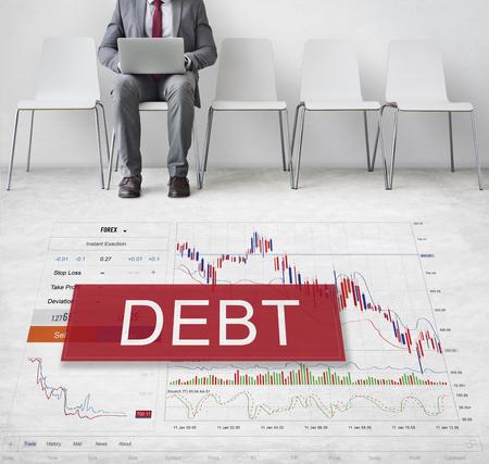 Debt Chart Graphic Diagram Concept Фото со стока - 76990146