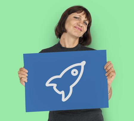 Rocket Spaceship Space Graphic Symbol Icon