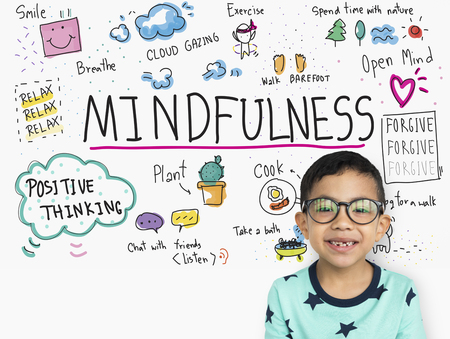 Imagine Learning Mindfulness Sketch School Stock Photo