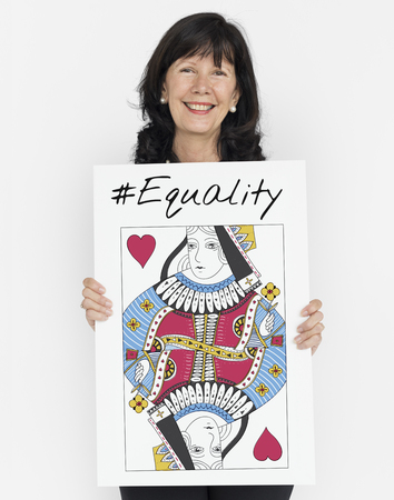 Women Rights Queen Card Concept Stockfoto