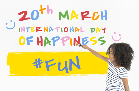 seize: International Day Of Happiness Concept Stock Photo
