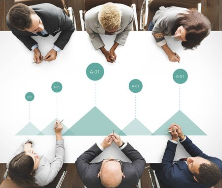 Icon Document Meeting Business Life Stock Photo